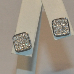 2-3094-e5 Sterling Micro Pave stud Earrings (Black CZ's available)