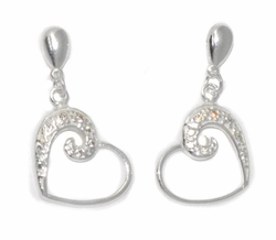 2-3109-D1 Sterling silver Heart Earrings