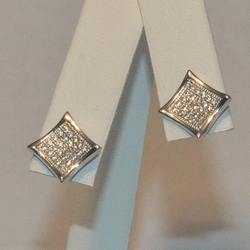 2-3150-e5 Sterling Micro Pave Stud Earrings