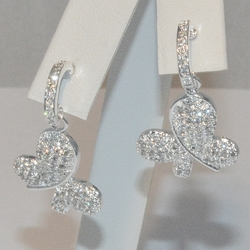 2-3162-e5 Sterling CZ Butterfly Earrings