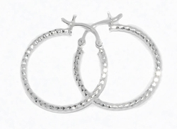 2-4046-D1 Diamond Cut Hoops (3 Sizes)
