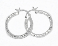 2-4049-D1 Diamond Cut Hoops (4 Sizes)