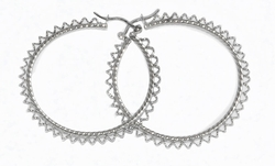 2-4073-D1 Twist Design Hoops