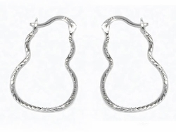 2-4082-D1 Diamond Cut Hoops (2 sizes)