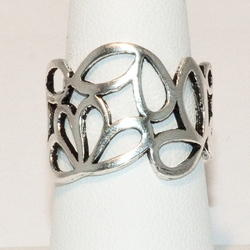 2-5036-e6 Sterling Abstract Ring