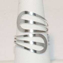 2-5037-e4 Sterling Wrap Araound Ring