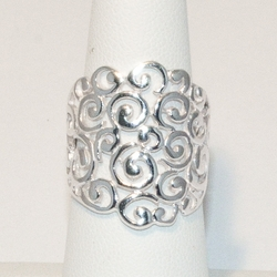2-5044-e4 Sterling Broad Twirls Ring