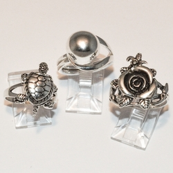 2-5047-e4 Ladies Sterling Rings (choose style)