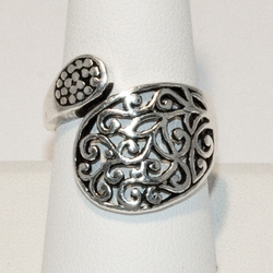 2-5051-e4 Sterling Fillagre Wrap Design Ring