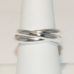 2-5057-e4 Sterling Triple band Braid Ring