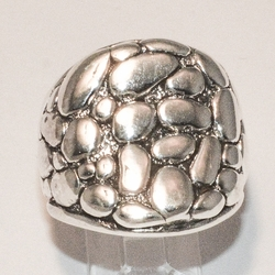 2-5066-e4 Sterling Nuggets Ring