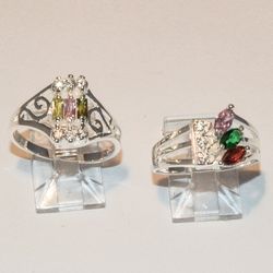 2-5085-e4 Ladies Sterling CZ Rings (choose Style
