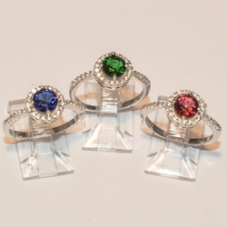 2-5093-e4 Sterling CZ Rings (3 Colors available)