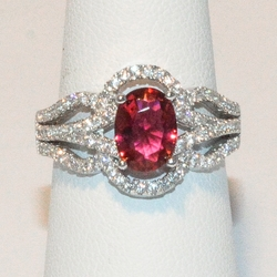 2-5111-e2 Sterling CZ Ring (3 colors available)