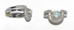 2-5119-D1 Cubic Zirconia 2pc Wedding Ring
