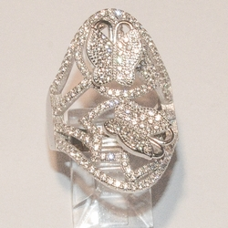 2-5142-e4 Sterling Micro Pave Butterfly Ring