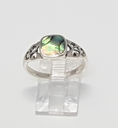 2-5155-f6 .925 Sterling Silver Abalobe Ring.
