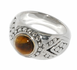 2-5164-D2 Ladies Tiger Eye Ring
