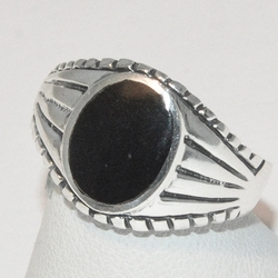 2-5271-e2 Oval Onyx Ring