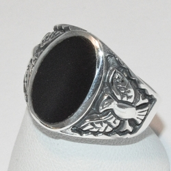 2-5276-e3 Oval Onyx Ring