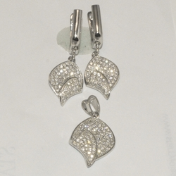 2-6365-D3 Sterling Micro Pave Set