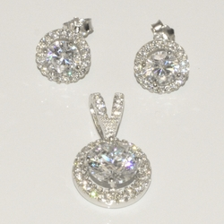 2-6412-D1 Sterling Micro Pave Set