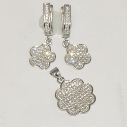 2-6421-D1 Sterling Micro Pave Set