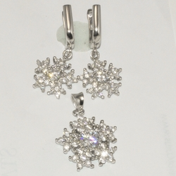 2-6422-D1 Sterling Micro Pave Set