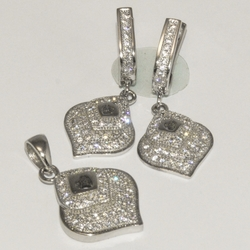 2-6427-D1 Sterling Micro Pave Set