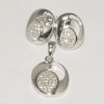 2-6432-D1 Sterling Micro Pave Set