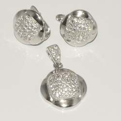 2-6446-D1 Sterling Micro Pave Set