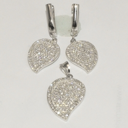 2-6495-D1 Sterling Micro Pave Set