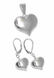 2-6573-D1 Sterling Silver Heart Set