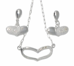 2-66015-D1 Sterling Silver Necklace and Earring Set