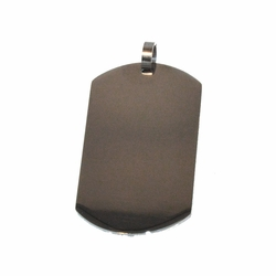 """4-2019-f1 Stainless Dog Tag Pendant, 2"""" length,"""