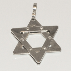 4-2079-D1 Stainless Star of David Pendant
