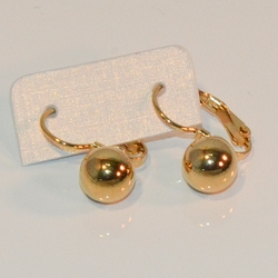 4-2130-1-e8 Stainless Drop Ball Earrings. 8mm ball. Available in 2 finishes.
