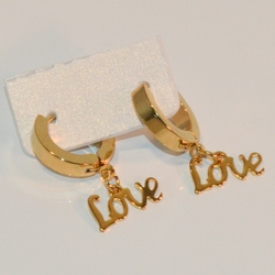 4-2207-e8 Stainless Huggies with Love Name Plate. Available in 2 finished. 3x13mm.