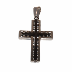 4-2322-e11 Stainless Cross with Black Center. 2""