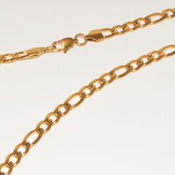 4-3181-e1 Gold Plated Figaro Link chain