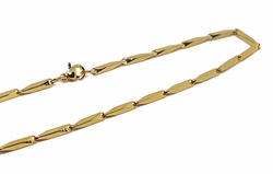 4-3186-f10 18kt Gold Layered Over Stainless Steel 20 Inch Bullet Chain. 2.5mm.
