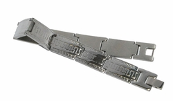 4-4061-D1 Mens Greek Design Steel Bracelet