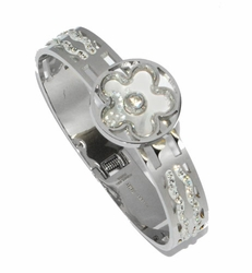 4-4177-D1 Ladies Steel Banlge Braceltr