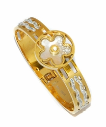 4-4178-D1 Ladies Gold Plated Steel Bangle Bracelet