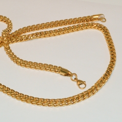 4-6012-e1 Steel Gold Plated Cuban Link Set