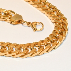 4-6024-e1 Men gold Plated Steel neckalce 30""