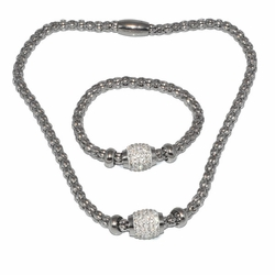 4-6131-D1 Ladies Necklace and Bracelet