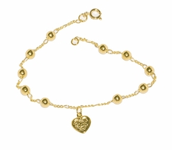 1-0551-D1 Beaded Bracelet with Heart