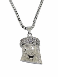 Iced Culture Jesus Chain. 30 inch chain, 2.5 inch Jesus Piece.