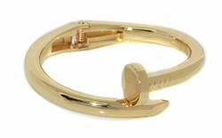 MBAN-FSH-05-D1-GLD Nail Design Fahion Bangle